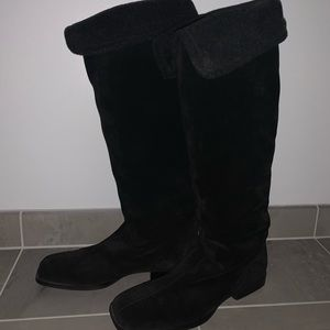 Bally Knee High Suede Boots